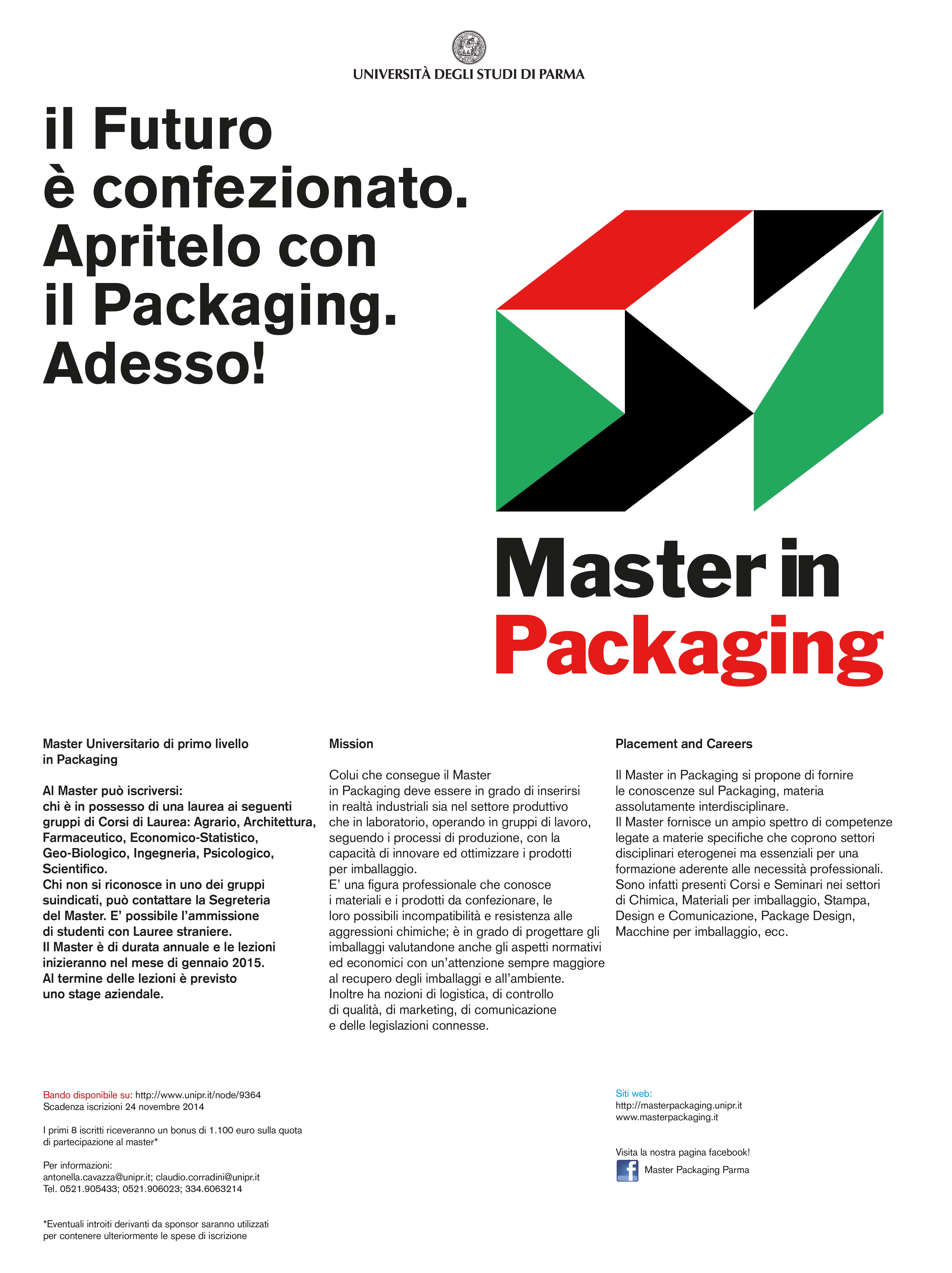 arte squisita goditi il prezzo più basso stili freschi Master in Packaging all'Uniparma | WeArePackagingFans